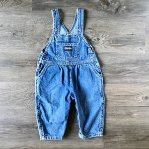 Osh Kosh Girls Blue Denim Overalls Size 12M